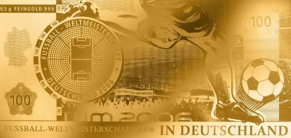 Goldnote Fußball Weltmeisterschaft in Deutschland 2005