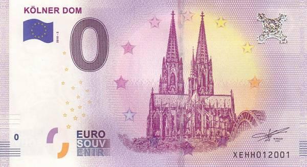 0-Euro-Banknote Kölner Dom - Ostseite 2018