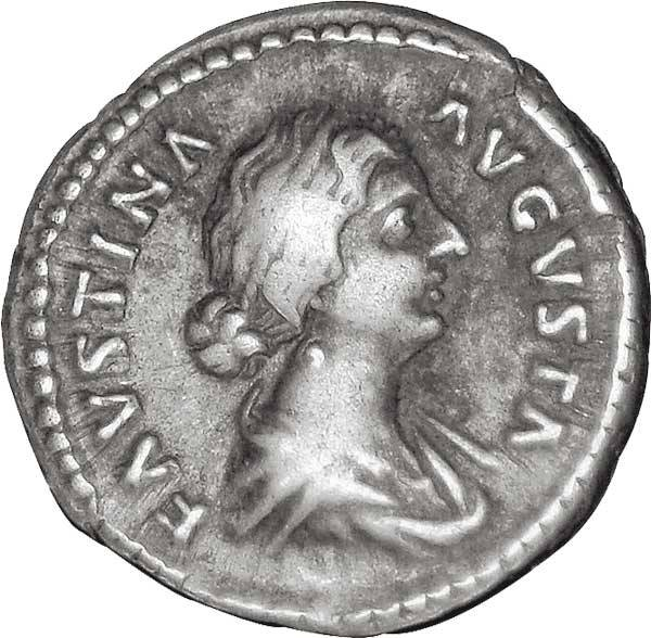Denar Römisches Kaiserreich Kaiserin Faustina II. die Jüngere 175