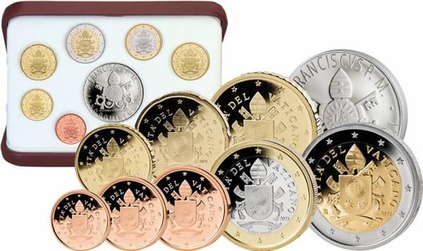 Euro Kursmünzensatz Vatikan 2021 inklusive 20-Euro-Silbergedenkmünze