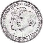 5 Mark Baden Silberhochzeit 1914 Vorzüglich