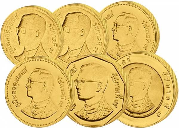 25 Satang - 10 Baht Thailand Kursmünzensatz 1987-2008
