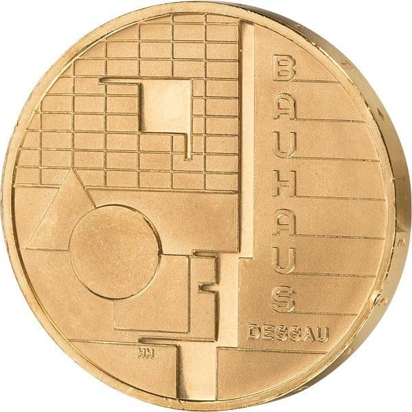 10 Euro BRD Bauhaus Dessau 2004 vollvergoldet