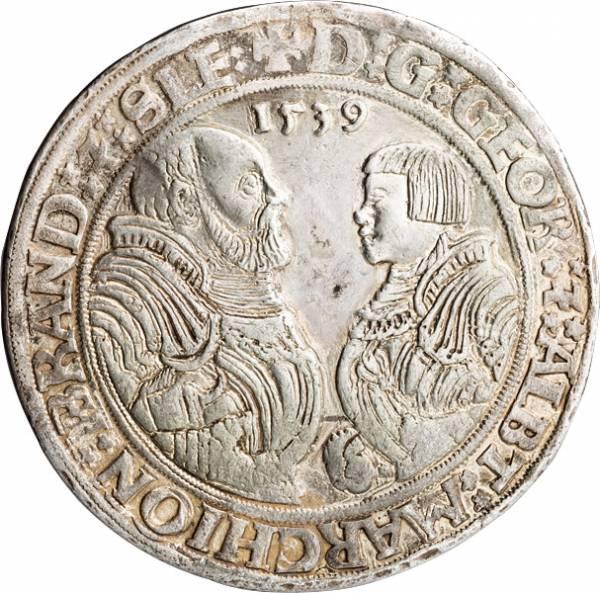 Taler Brandenburg-Franken Markgrafen Georg und Albrecht Alcibiades 1538-1545