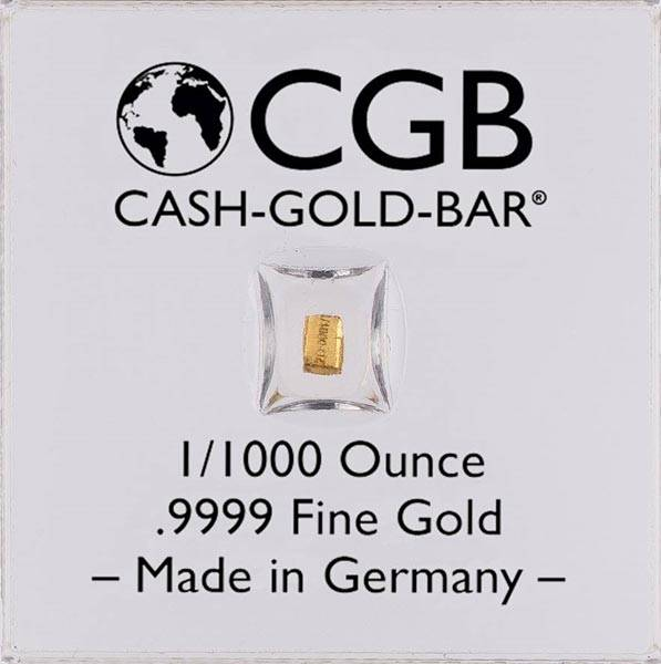 1/1000 Unze Goldbarren Cash Gold Bar®