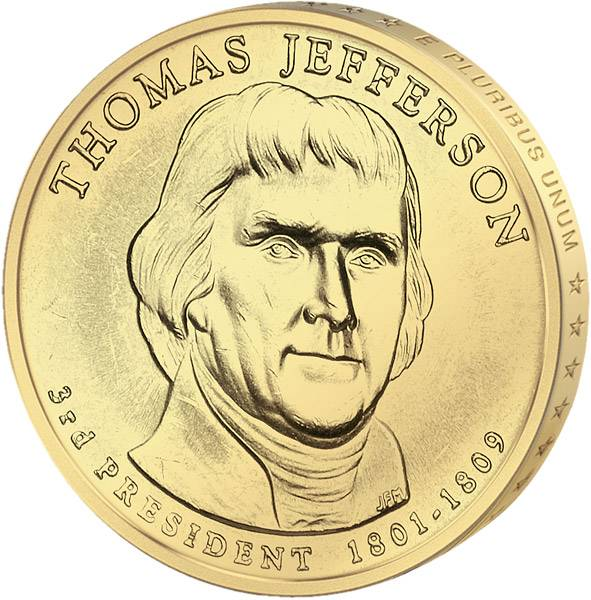 1 Dollar USA Thomas Jefferson 2007 Stempelglanz