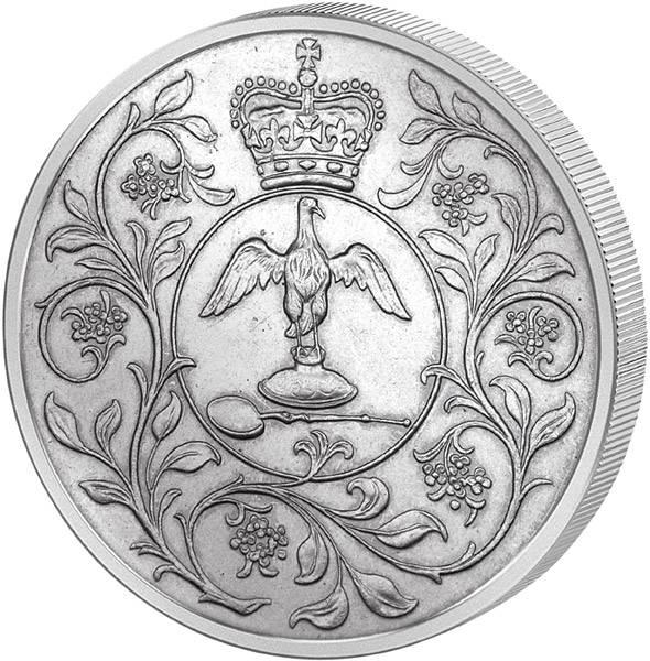 25 Pence Großbritannien Silbernes Regierungsjubiläum Elizabeth II.