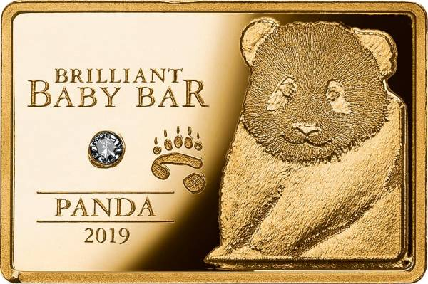 5 Dollars Niue Brilliant Baby Bar Panda 2019