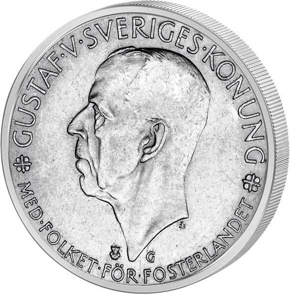 5 Kronen Schweden 500 Jahre Schwedischer Reichstag 1935