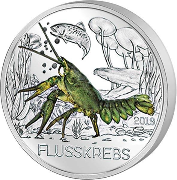 3 Euro Österreich Tier-Taler Flusskrebs 2019