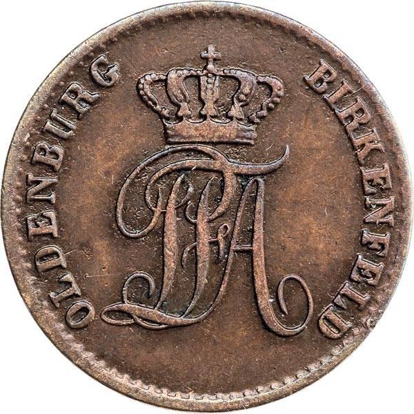2 Pfennig Oldenburg Peter Friedrich August 1848