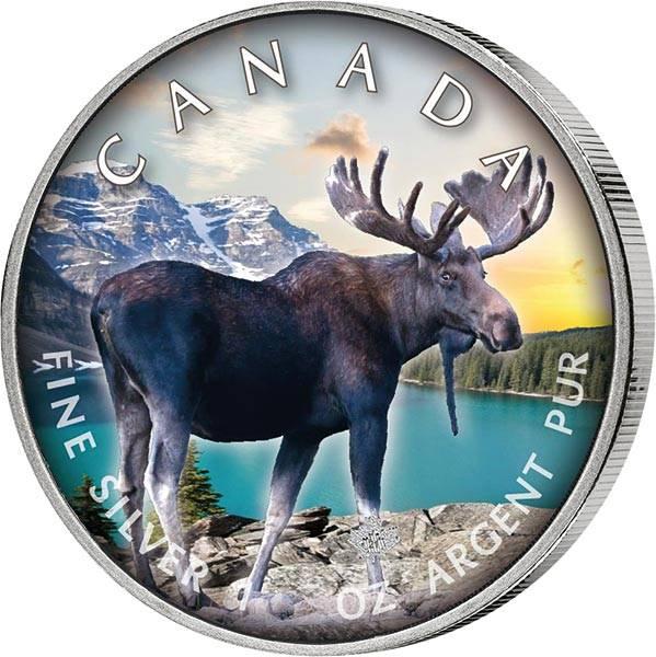 5 Dollars Kanada The Trails of Wildlife Elch 2021