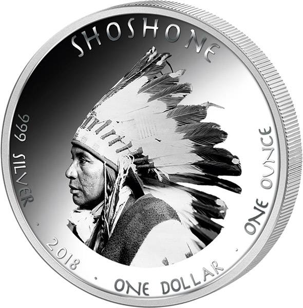 1 Dollar USA Native State Dollar Shoshone Gopherschildkröte Nevada 2018