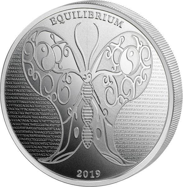 1 Unze Silber Tokelau Equilibrium 2019