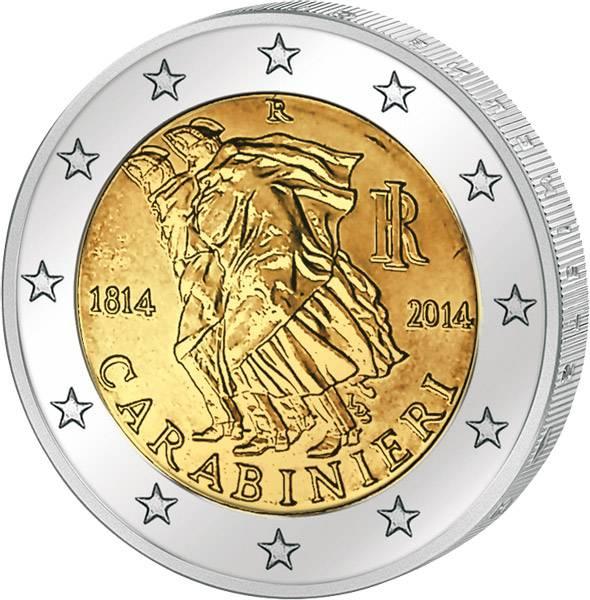 2 Euro Italien 200 Jahre Carabinieri 2014 prägefrisch