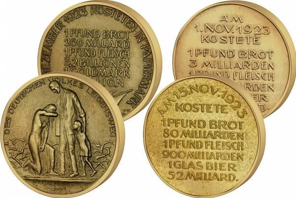 Bronzemedaille Des deutschen Volkes Leidensweg