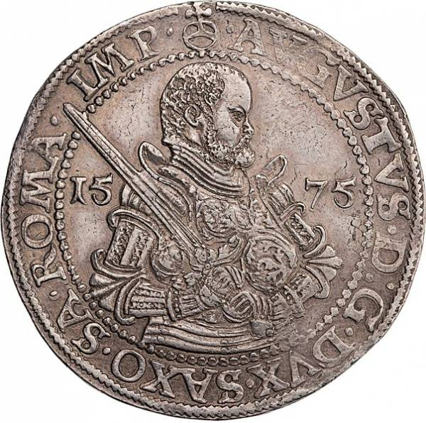 Taler Sachsen Kurfürst August 1567-1586