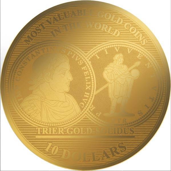 1/100 Unze Gold Salomonen Trier Gold Solidus 310 n.Chr. 2018