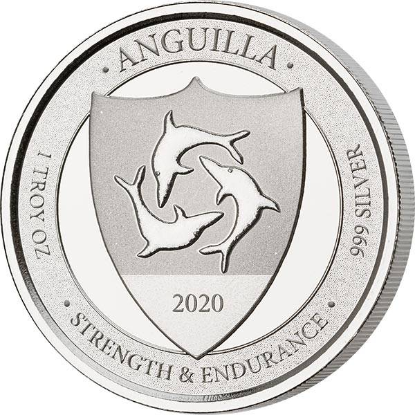 1 Unze Silber Anguilla Strength and Endurance 2020