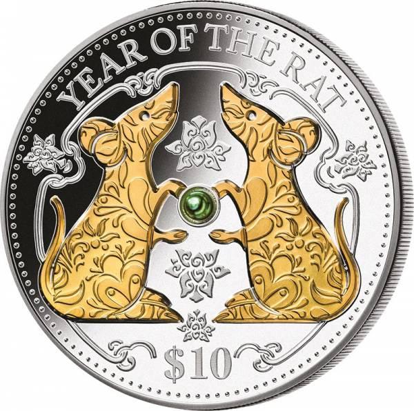 1 Unze Silber Fidschi Jahr der Ratte 2020