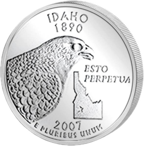 Quarter Dollar USA Idaho 2007
