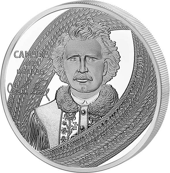 1 Dollar Kanada 175. Geburtstag von Louis Riel - Vater von Manitoba 2019