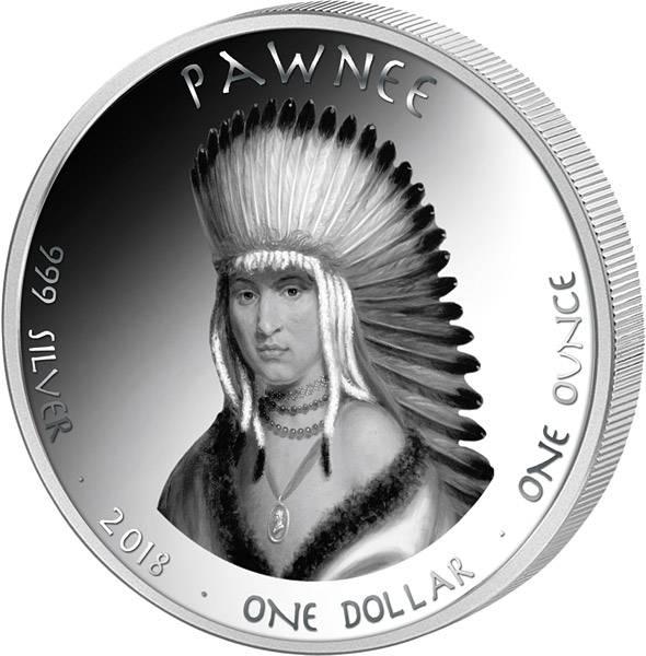 1 Dollar USA Native State Dollar Pawnee Kansas Gabelbock 2018