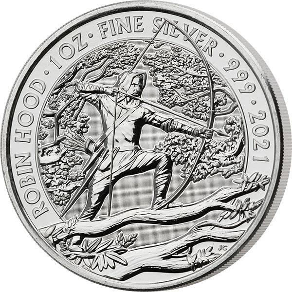 1 Unze Silber Großbritannien Robin Hood 2021