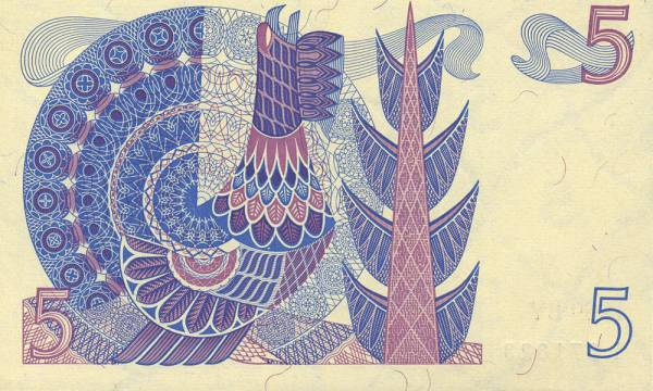 5-Kronen-Banknote Schweden König Gustav I. Wasa 1965-1969