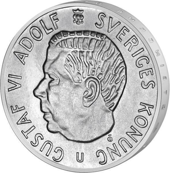 5 Kronen Schweden König Gustav VI. Adolf 1954-1971