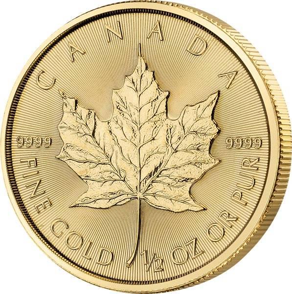 1/2 Unze Gold Kanada Maple Leaf 2020