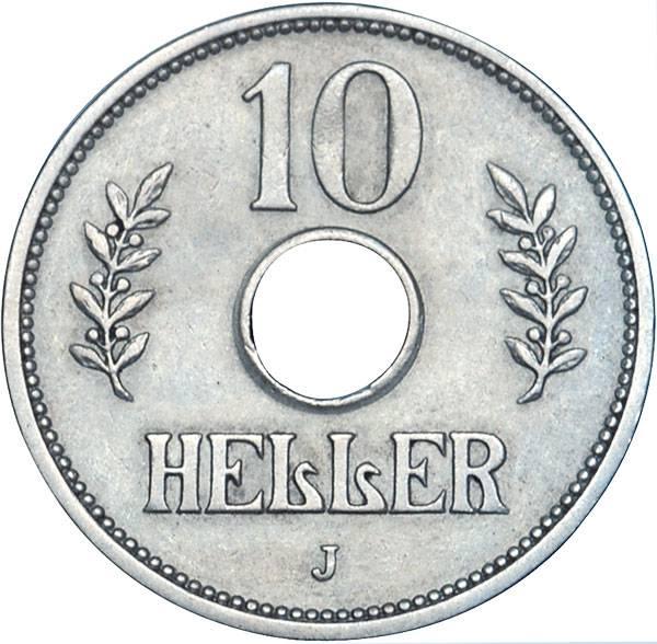 10 Heller Deutsch Ostafrika Kronenwappen 1908-1914 Sehr schön