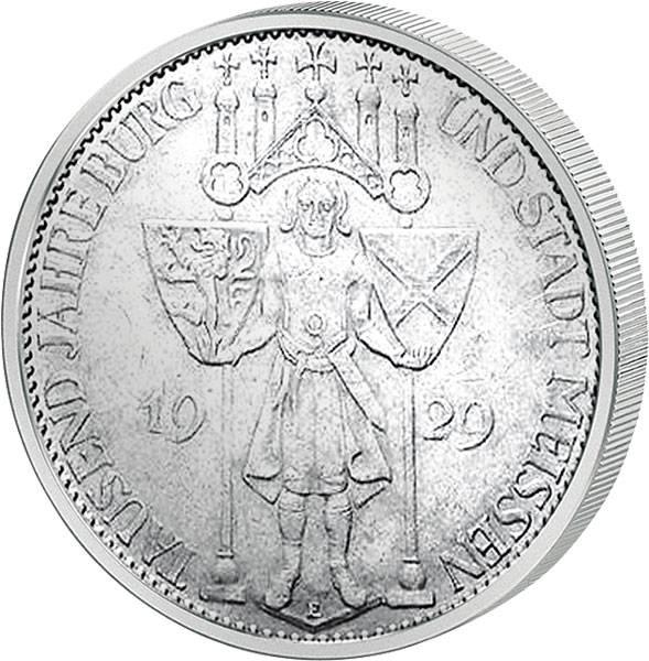 5 Mark Weimarer Republik Meissen 1929 ss-vz