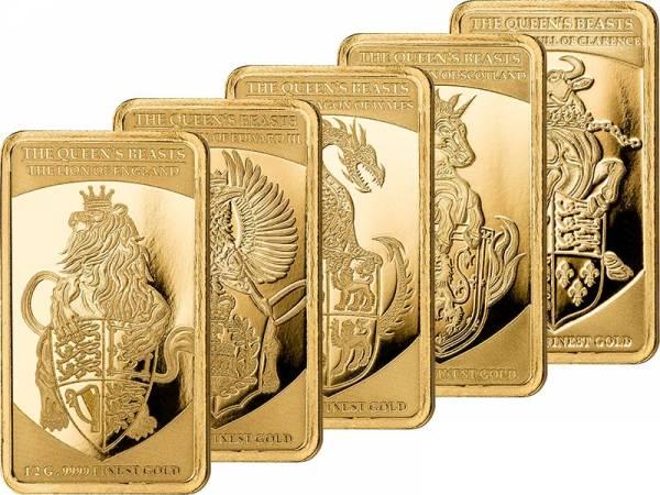 5 x 250 Francs Senegal Queen´s Beasts 2018