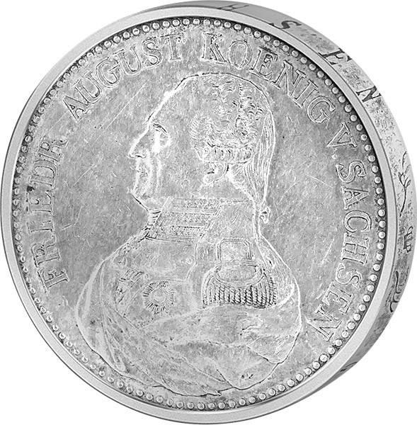 Konventionstaler Silber König Friedrich August I. 1824-27 sehr schön