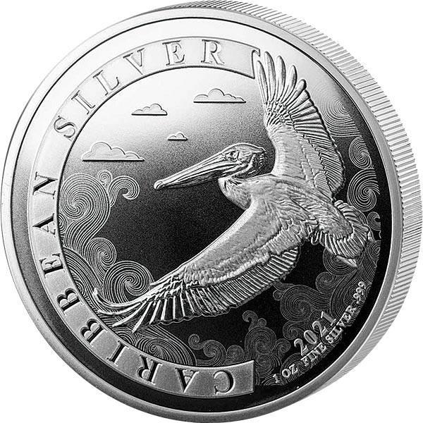 1 Unze Silber Barbados Pelikan 2021