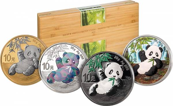 Silver Investment Coin Prestige-Set Panda 2020