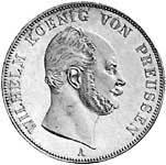 Vereinsdoppeltaler Preußen Wilhelm I. 1861-63 vz