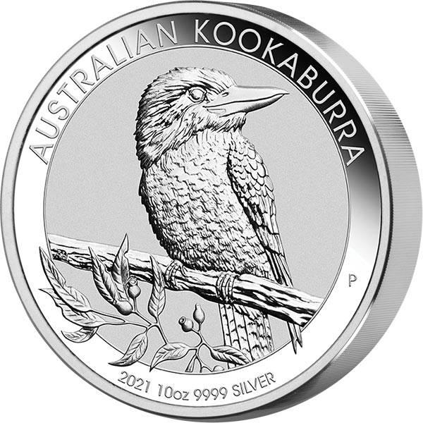 10 Unzen Silber Australien Kookaburra 2021