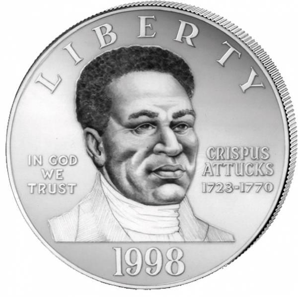 1 Dollar USA Farbige Patrioten 1998 Polierte Platte (PP)