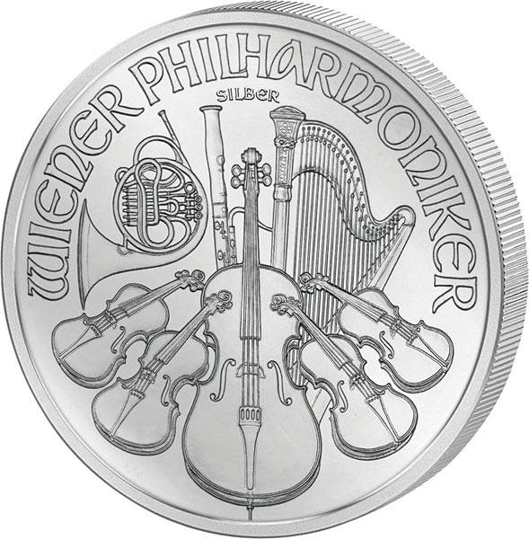 1 Unze Silber Österreich Wiener Philharmoniker 2019