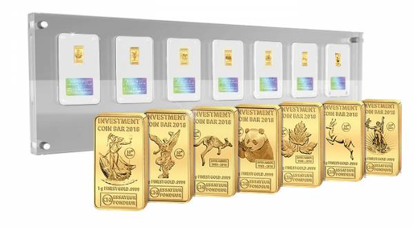 Investment Coin Bar Collection Tribute Edition 2018