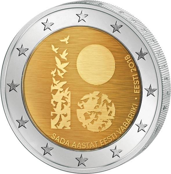 2 Euro Estland 100 Jahre Republik 2018
