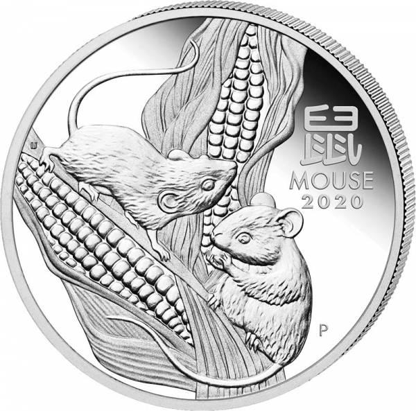 1 Kilo Silber Australien Jahr der Maus 2020