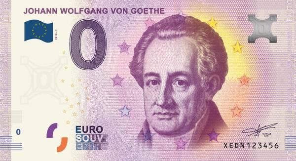 0-Euro-Banknote Johann Wolfgang von Goethe 2018