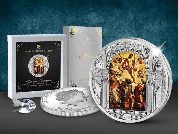 20 Dollars Cook-Inseln Jacopo Robusti Tintoretto Auferstehung Christi 2016 Polierte Platte (PP)