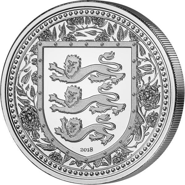 1 Unze Silber Gibraltar Royal Arms of England 2018