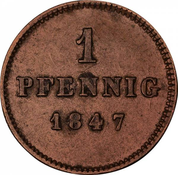 1 + 2 Pfennig Bayern König Ludwig I. 1839-1848