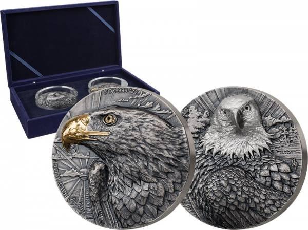 2 x 2.500 Francs Elfenbeinküste Edition Signature Eagle 2020