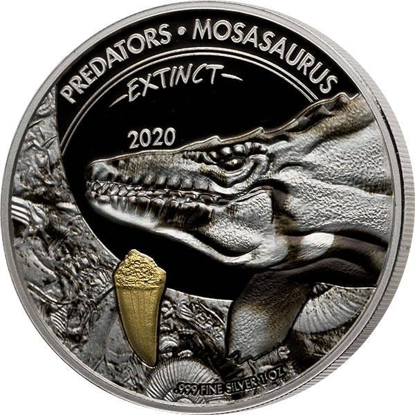20 Francs Kongo Predators Extinct Mosasaurus 2020